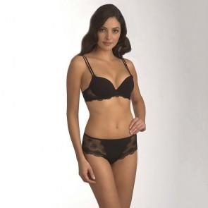 Simone Perele Romance Push Up BH mit herausnehmbaren Luftkissen und T-Rücken-Clip schwarz