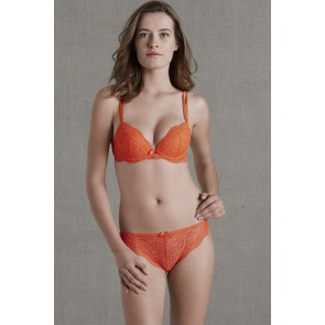 Simone Perele Eden Chic Push UP BH feuerrot